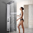 Tall Waterfall Bathroom Sink Vessel Faucet Basin Mixer Tap Brushed Nickel/Chrome