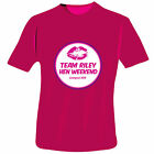 Personalised Lips Hen Do T-Shirt - Fuchsia Pink - Medium Large Extra Large
