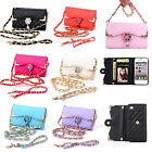 Luxury Bling Flip Card Holder Wallet Handbag Case For iPhone 4 5S SE 6 6S PLUS