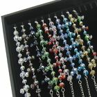 Black 20 Hooks and 8 Compartments Jewelry Display Box Case Bracelets Necklaces