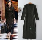 Hot Sale 16 Autumn New Runway Black Sexy Lace Slim Beads Kitty Party Dress SMLXL