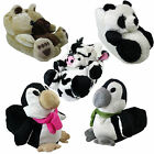 Womens Ladies Comfy Cosy Cute Christmas Gift Animal Novelty  Bear Slippers Size