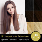 "18"" Synthetic Instant Clip-in Full Head One Piece Hair Extension 120 gram"