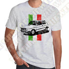 Italian Flag Fiat 127 Sport Mens Ash Grey Cotton retro T-shirt