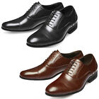 Mooda Mens Leather Oxfords Shoes Classic Formal Lace up Dress Shoes ChicLine
