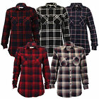 Ladies Womens Checked Tartan Shirt Long Sleeved Summer Blouse By Brave Soul