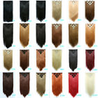 """22"""" 130g 7pcs/set Clip in Human Hair Extensions Straight Synthetic Hair Piece"""