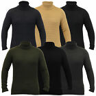 Mens Knitted Polo Neck Waffle Jumper Pullover Winter Sweater By Soul Star