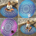 Round Mandala Tapestry Indian Yoga Mat Beach Throw Blanket Towel Cover Up Scarf