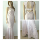 BNWT Lipsy VIP Lace Placement Fishtail Maxi Evening Wedding Party Dress Size 10