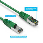 Green 1/2-30'Ft Cat6 Giga Lan Network Ethernet CMX Outdoor SSTP Shielded Cable