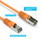 Orange 1/2-30'Ft Cat6 Giga Lan Network Ethernet CMX Outdoor SSTP Shielded Cable