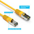 Yellow 1/2-30'Ft Cat6 Giga Lan Network Ethernet CMX Outdoor SSTP Shielded Cable
