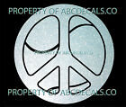 VRS Peace Sign Love Tennis Racket Ball Inside CAR DECAL METAL STICKER