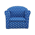 Kids Children's Tub Chair Armchair Sofa Seat Stool Blue Red w/ White Spot Fabric