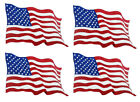 Window Truck Decal 4 American Flags High Quality Printed Vinly
