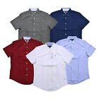 Tommy Hilfiger Buttondown Shirt Mens Short Sleeve Custom Fit Casual Collared