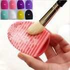 Makeup Tool Brush Cleaner Glove Cosmetic Brush Egg Silicone Gel Scrubber Board