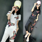 New Fashion Shitsuke Women's Clothing Embroidered butterflies T-shirt sport suit