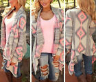 Fashion Womens Sweater Casual Long Sleeve Knitted Cardigan Outwear Jacket Coat