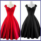 2016 Women Vintage Sleeveless Cotton Cocktail Dress Plus Size Party Dress Skirt