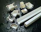 PLASTIC SQUARE GUTTER GUTTERING DOWNSPOUT PIPE & FITTINGS VARIOUS COLOURS