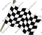 Checkered Flag Sticker Decal Quality Helmet Equipment Cooler Racing Nascar Gift