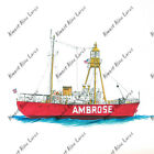 Ambrose Lighthouse Ship Sticker Decal Home Office Dorm Wall Tablet Cell eBook