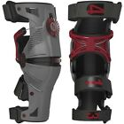 Mobius X8 Motorcycle Knee Guards (Pair)Grey/Red  - New Product!!