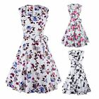 Floral Printed Cocktail Dress Casual Women Dress Ladies Summer Beach Dress