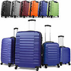 4 pc Trolley Set Hard Case Suitcase Light Luggage Cabin Bag ABS Wheeled Travel
