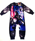 BOYS STAR WARS fleece all in one, onesi, onezee pyjamas - 2-8yrs DARTH VADER