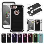 Hybrid Silicone Rubber 2 in1 New Anti-shock Cover Case For Apple iPhone 7/7plus
