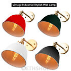 VINTAGE ANTIQUE INDUSTRIAL BOWL SCONCE LOFT WALL LIGHT WALL LAMP E27 LED BULB UK