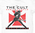 The Cult Sonic Temple 89 Tour Mens White Rock T Shirt New S M L XL XXL 3XL 4X 5X image