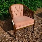 Vintage Lewittes Cane Armchair. Original with Label. Mid-Century Chair. Bergere