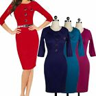Successful Women Business Meeting Party Bodycon Cocktail Sexy Pencil Dress