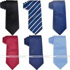 Mens Silky Business Necktie Neck Tie Classic Stripe Dots with Gift Box 7 Colors