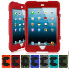 US Seller Shockproof Armor Classical Rubber Case Cover For iPad Mini 1 2 3