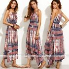 Fashion Women Multi-coloured Boho Long Maxi Evening Party Bohemia Dress Sexy