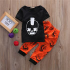 2pcs baby Toddler Kids Baby Boys Outfits T-shirt Tops+Pants Clothes Set 0-3Y