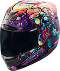 Icon Racing Adult 2017 Airmada Space Bass Motorcycle Helmet XS-3XL