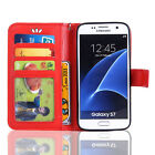 Shockproof PU Leather Flip Wallet Card Case Stand Cover Fr Sasung Galaxy S7 Edge