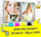 """YOUR PICTURE PERSONALISED ON TO CANVAS BOX  7"""" x 10"""" - 28MM FRAME TOP QUALITY"""