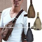 New Men Single Shoulder Canvas Bag Bodycross Bag Sport Casual Backpack BookBag
