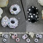 Crystal Rhinestone Black White Resin European Big Hole Beads Fit Charms Bracelet