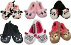 COZEES LADIES GIRLS NOVELTY ANIMAL DESIGN NOVELTY FLEECE WARM SLIPPERS  4-6 NEW