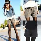 Autumn/Winter Fashion Women's Woolen Shorts Casual Bootcut Short Trousers Pants