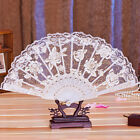 Chinese Spanish Style Dance Wedding Party Lace Silk Folding Hand Held Flower Fan