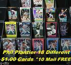 PHIL PLANTIER _ 18 Different $1.00 Cards _ Choose 1 or More *10 Mail FREE / USA